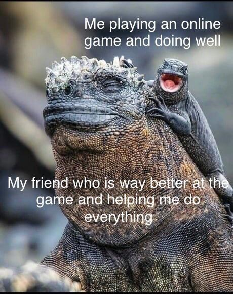 Organism - Me playing an online game and doing well My friend who is way better at the game and helping me do everything