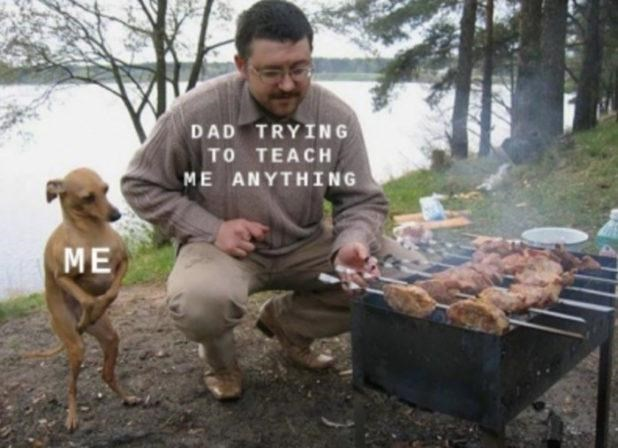 Food - DAD TRYING TO TEACH ME ANYTHING ME