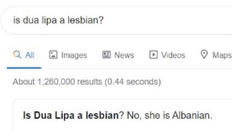 Rectangle - is dua lipa a lesbian? Q Al Images 回News D Videos Maps About 1,260,000 results (0.44 seconds) Is Dua Lipa a lesbian? No, she is Albanian.