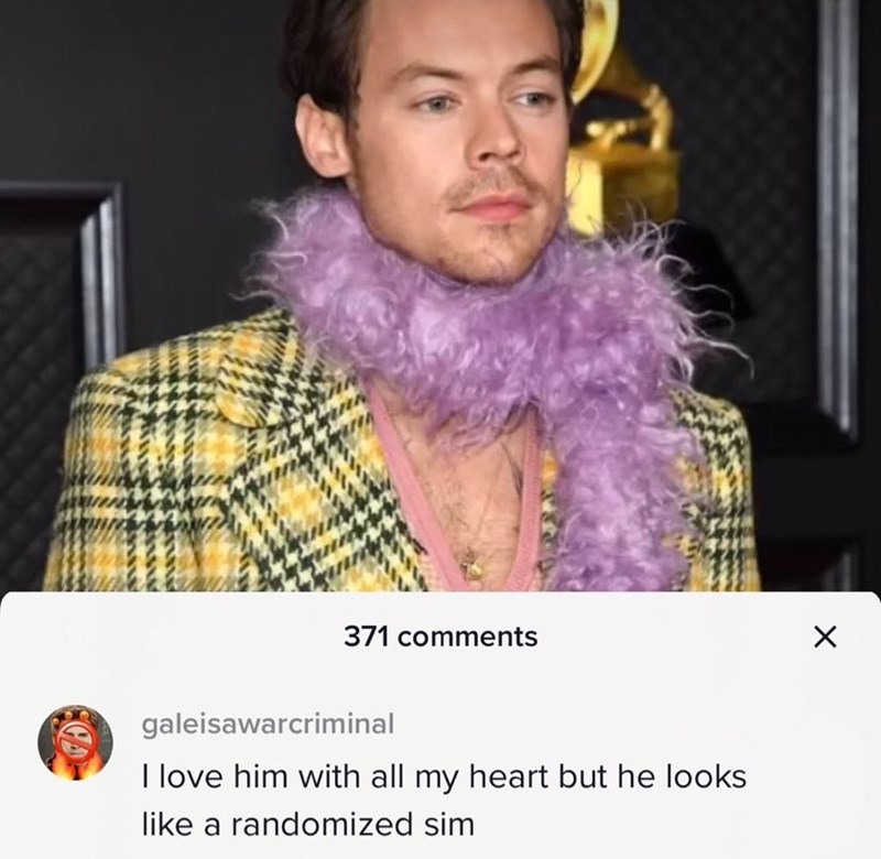 Forehead - 371 comments galeisawarcriminal I love him with all my heart but he looks like a randomized sim