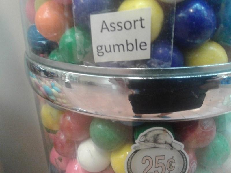 Food - Assort gumble 25¢