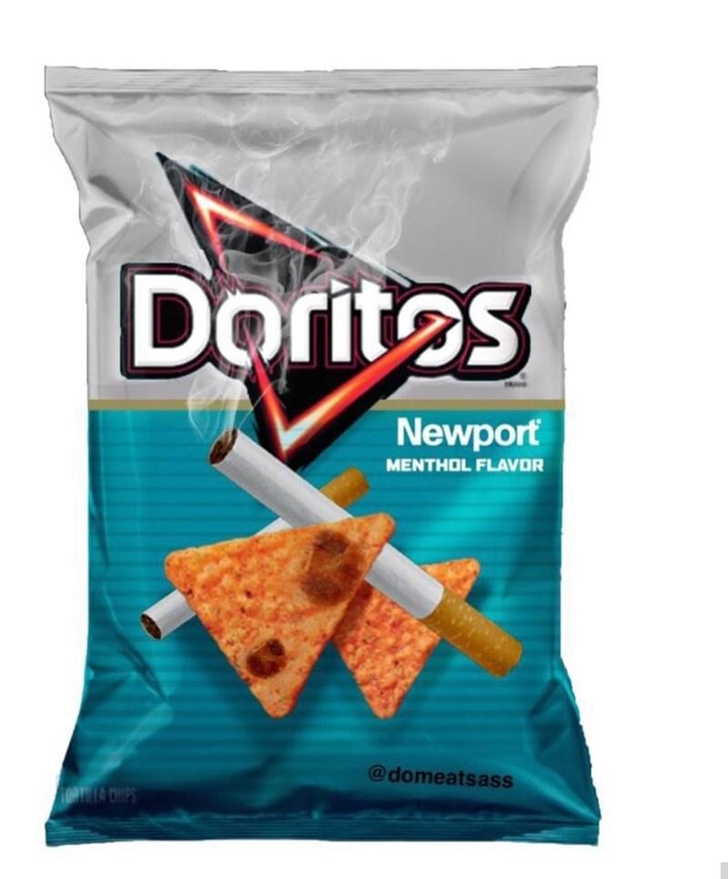 Food - Doritos Newport MENTHOL FLAVOR @domeatsass ORTILA CHIPS