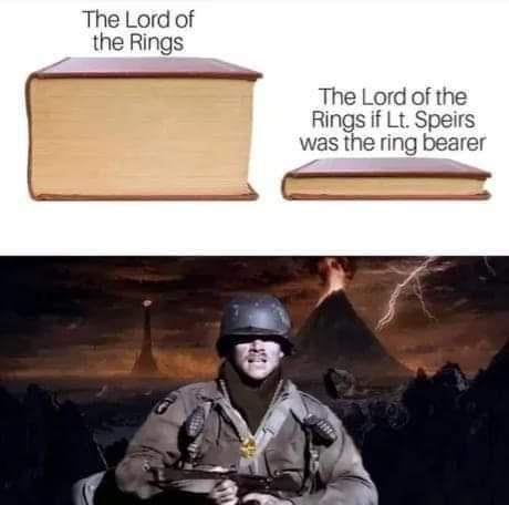 Helmet - The Lord of the Rings The Lord of the Rings if Lt. Speirs was the ring bearer