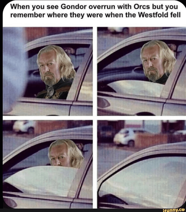 Hairstyle - When you see Gondor overrun with Orcs but you remember where they were when the Westfold fell ifHnny.co