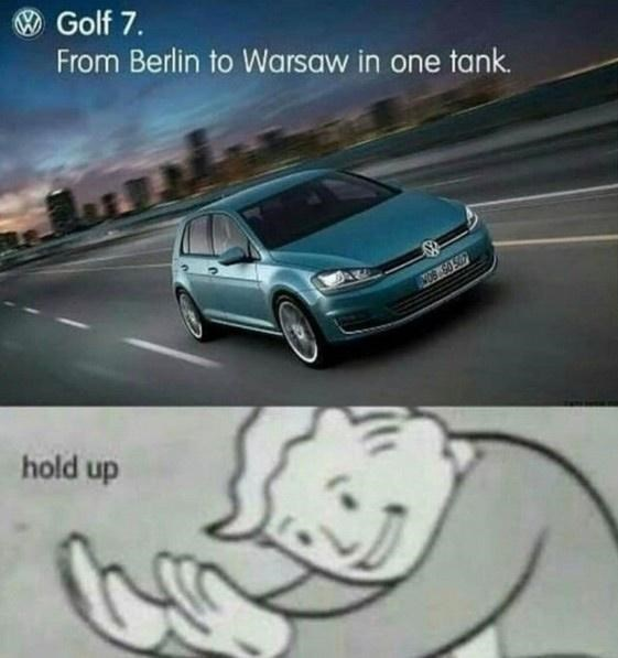 Tire - Golf 7. From Berlin to Warsaw in one tank. hold up
