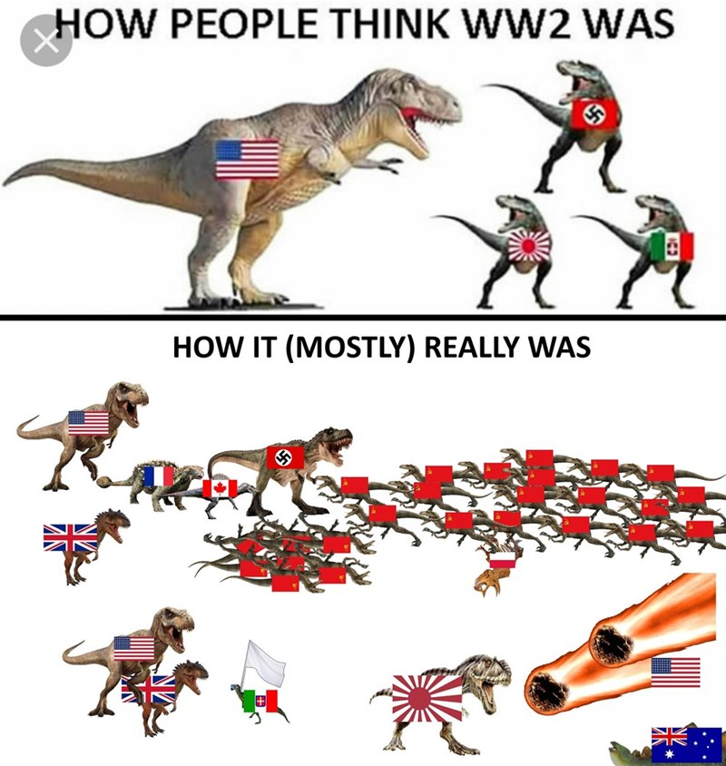 Extinction - HOW PEOPLE THINK WW2 WAS HOW IT (MOSTLY) REALLY WAS