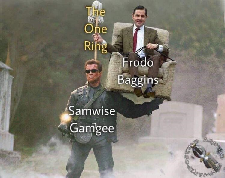 Tie - The One Ring Frodo Baggins Samwise Gamgee AR