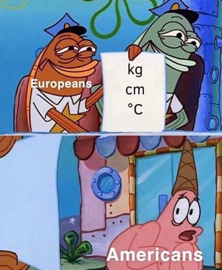 Vertebrate - kg Europeans cm °C Americans