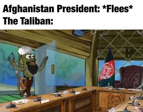 Table - Afghanistan President: *Flees* The Taliban: CD