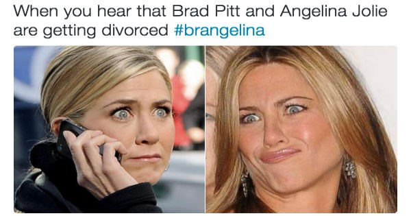 brad pitt Angelina Jolie twitter list reactions divorce celeb - 963333