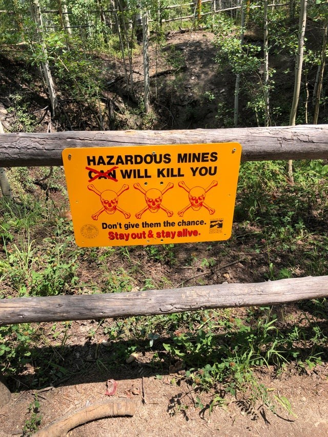 Plant - HAZARDOUS MINES CAN WILL KILL YOU Don't give them the chance. Stay out& stay alive.
