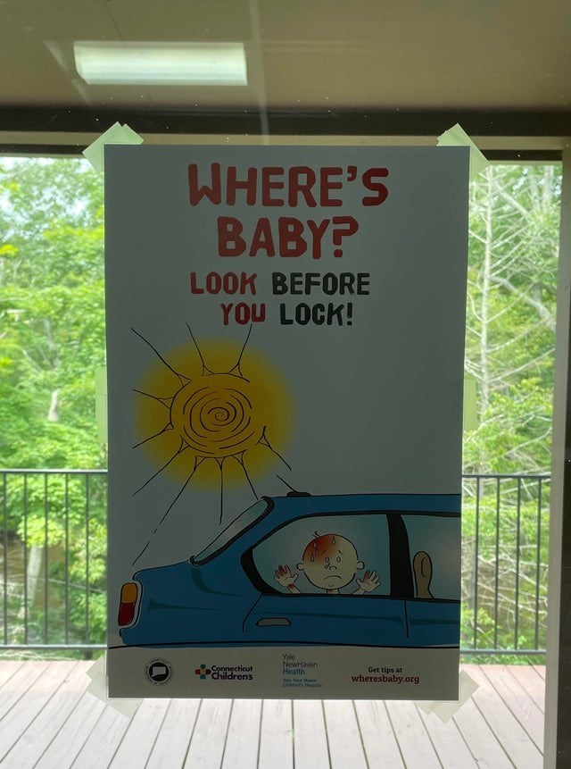 Tree - WHERE'S BABY? LOOK BEFORE YOU LOCK! Yale NewHaven Health Connecticut Childrens Get tips at wheresbaby.org