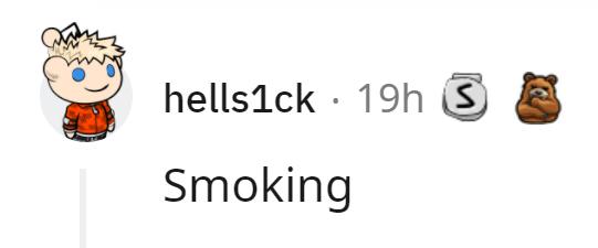 Gesture - hells1ck · 19h S Smoking