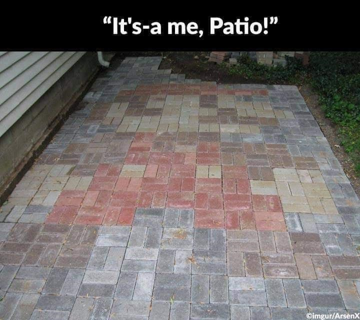 "Rectangle - ""It's-a me, Patio!"" ©imgur/Arsenx"