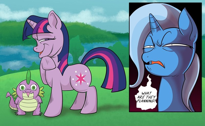 spike the great and powerful trixie twilight sparkle swagstapiece - 9634020608