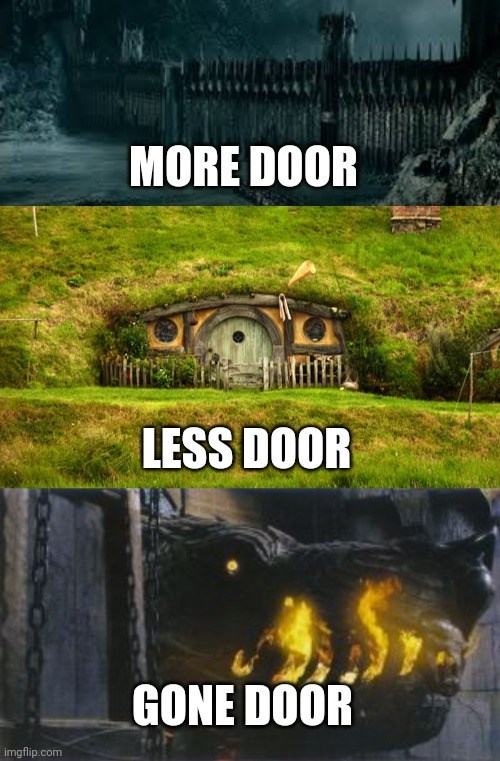 Plant - MORE DOOR LESS DOOR GONE DOOR imgflip.com