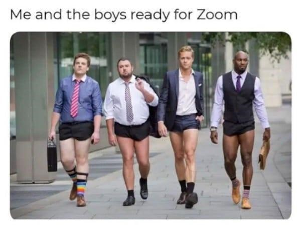 Clothing - Me and the boys ready for Zoom
