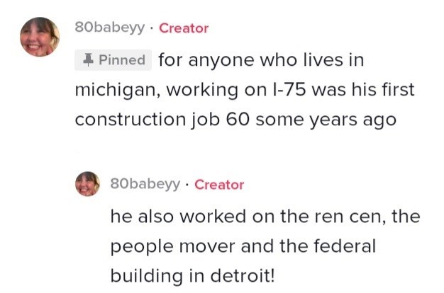 Jaw - 80babeyy · Creator 4 Pinned for anyone who lives in michigan, working on l-75 was his first construction job 60 some years ago 80babeyy Creator he also worked on the ren cen, the people mover and the federal building in detroit!