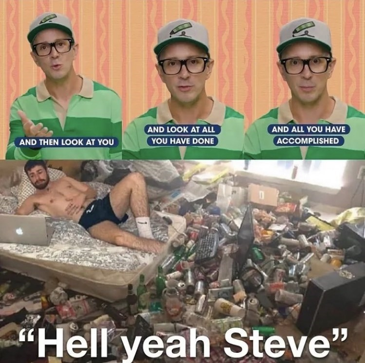 """Glasses - AND LOOK AT ALL YOU HAVE DONE AND ALL YOU HAVE AND THEN LOOK AT YOU ACCOMPLISHED """"Hell yeah Steve"""""""