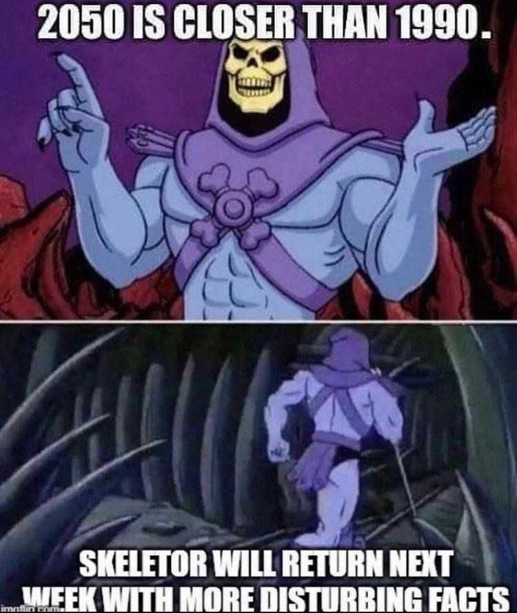 Cartoon - 2050 IS CLOSER THAN 1990. SKELETOR WILL RETURN NEXT WEEK WITH MORE DISTURBING FACTS imnfin enmal