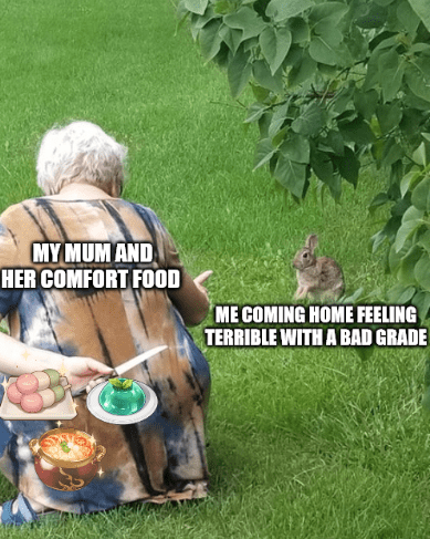 Vertebrate - MY MUM AND HER COMFORT FOOD ME COMING HOME FEELING TERRIBLE WITH A BAD GRADE