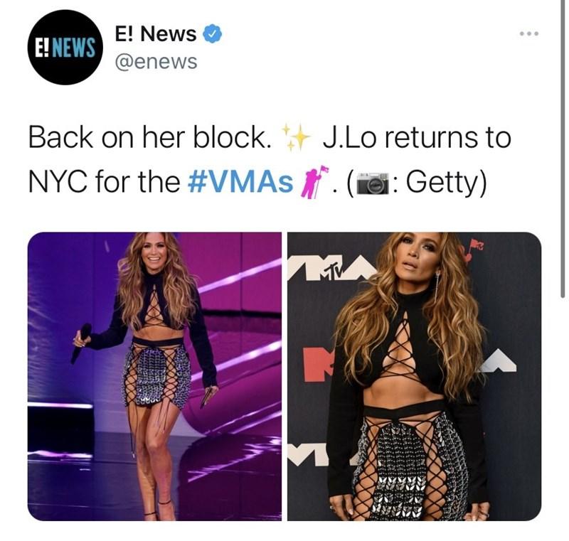 Clothing - E! News E! NEWS @enews Back on her block. + J.Lo returns to NYC for the #VMAS . (e: Getty) M
