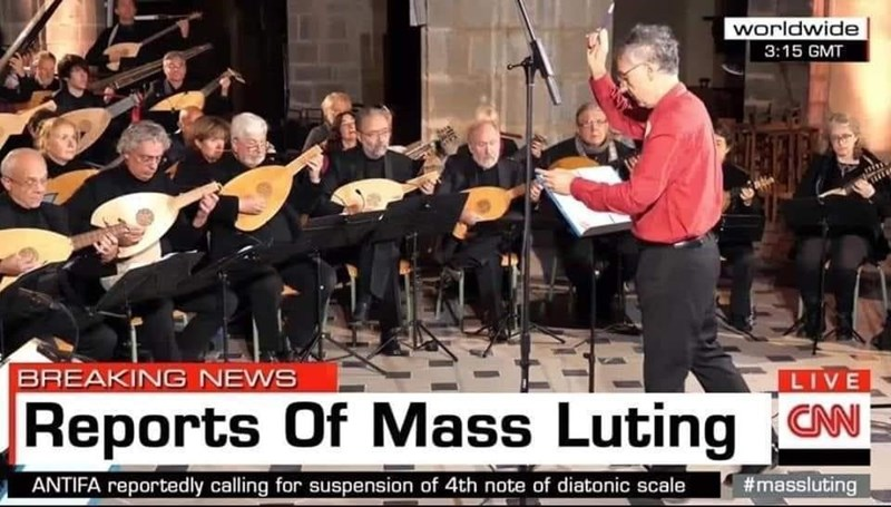 Music stand - worldwide 3:15 GMT BREAKING NEWS LIVE Reports Of Mass Luting CN ANTIFA reportedly calling for suspension of 4th note of diatonic scale #massluting