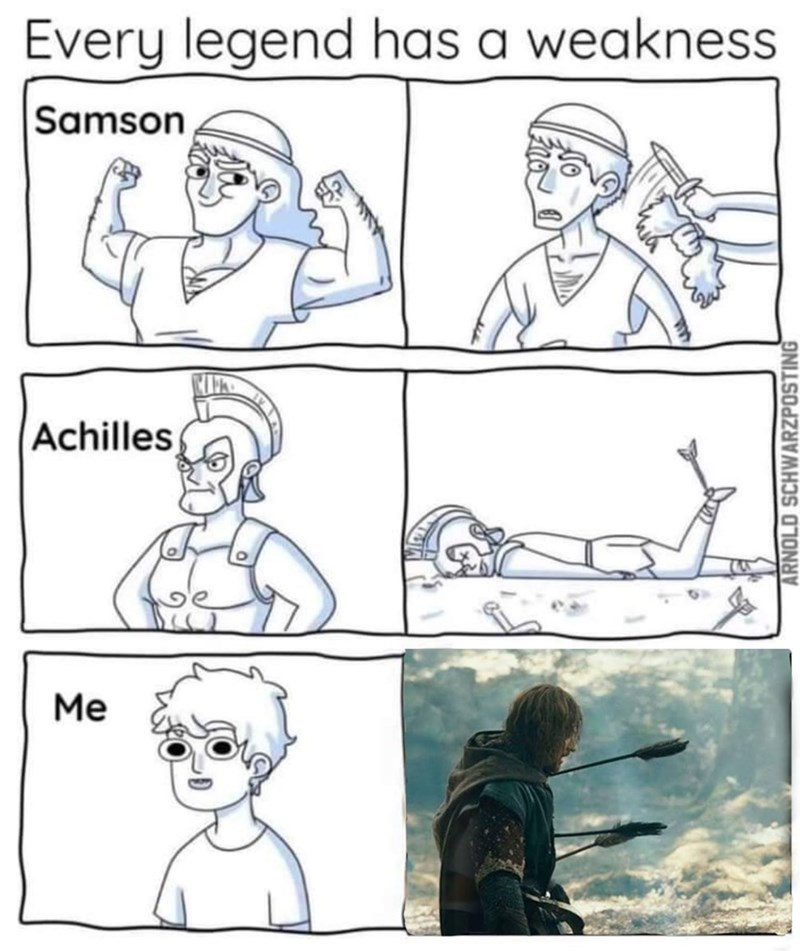 Nose - Every legend has a weakness Samson Achilles Me ARNOLD SCHWARZPOSTING