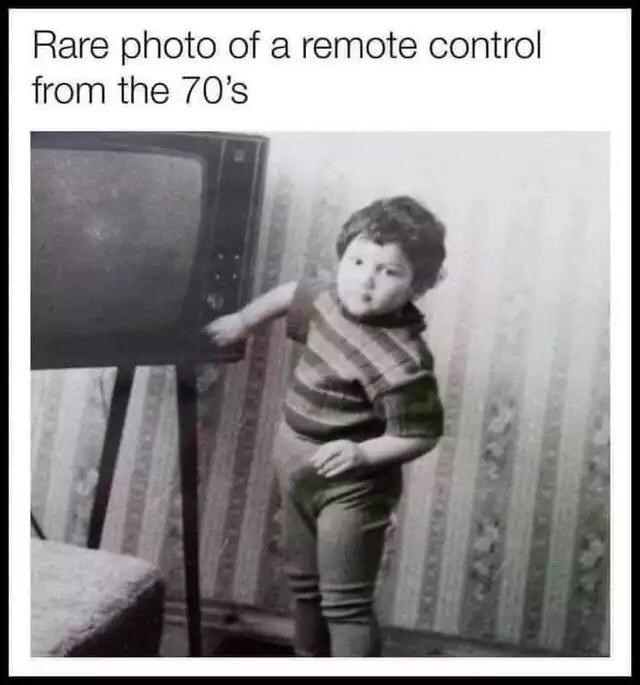 Sleeve - Rare photo of a remote control from the 70's