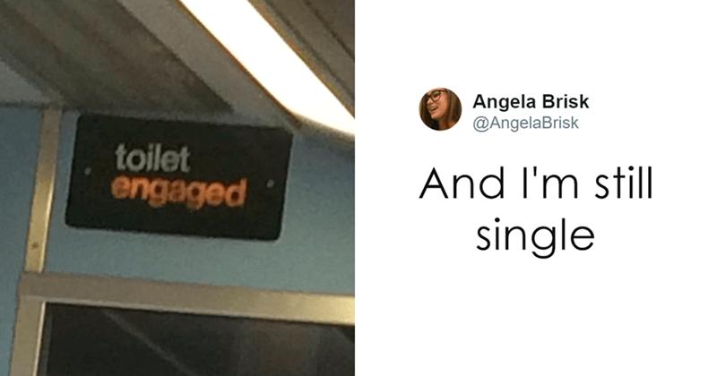 Product - Angela Brisk @AngelaBrisk toilet engaged And I'm still single
