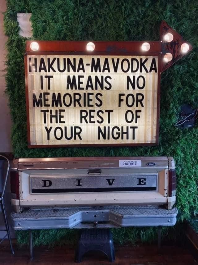 Plant - HAKUNA-MAVODKA IT MEANS NO MEMORIES FOR THE REST OF YOUR NIGHT HE DIE D I V E