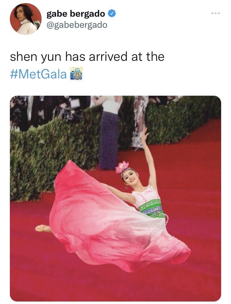 Product - gabe bergado @gabebergado shen yun has arrived at the #MetGala O