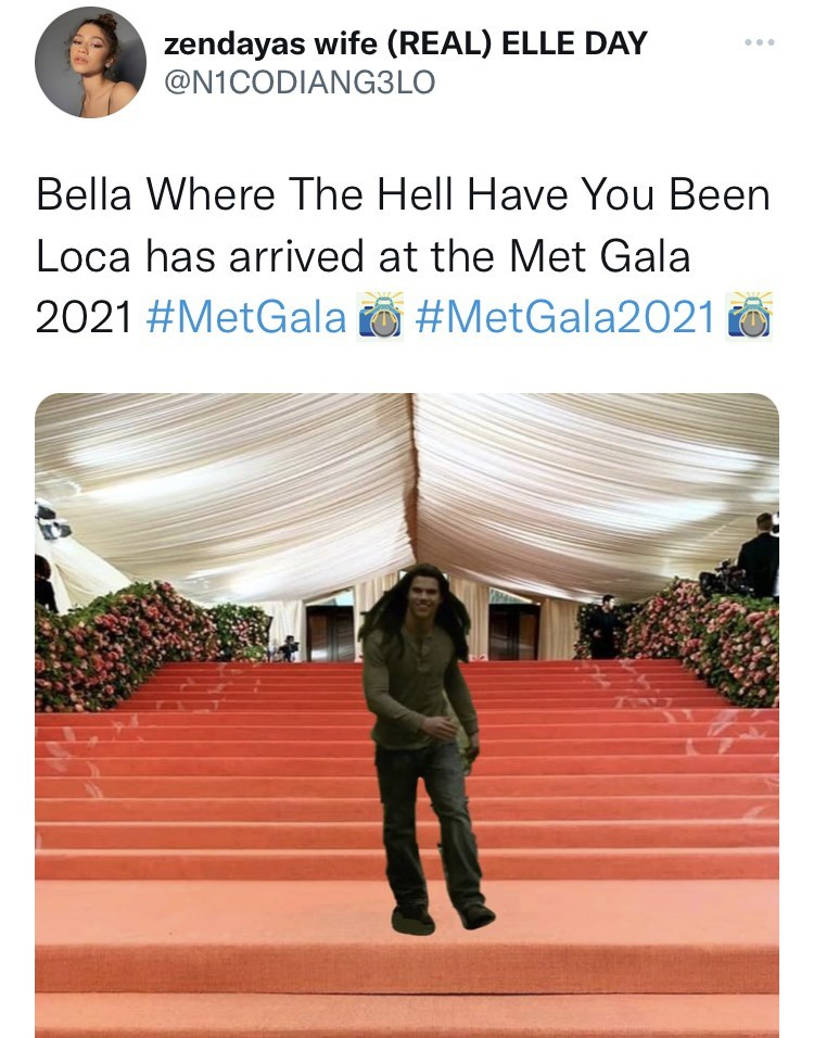 Product - zendayas wife (REAL) ELLE DAY @N1CODIANG3LO ... Bella Where The Hell Have You Been Loca has arrived at the Met Gala 2021 #MetGala o #MetGala2021