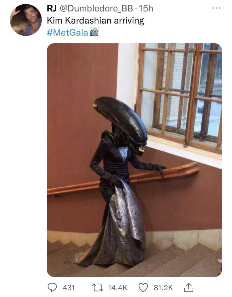 Product - RJ @Dumbledore_BB 15h Kim Kardashian arriving #MetGala o 431 17 14.4K 81.2K 1,