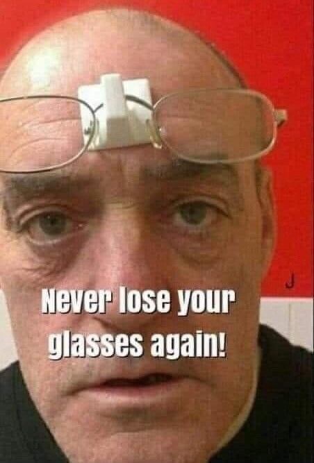 Forehead - Never lose your glasses again!