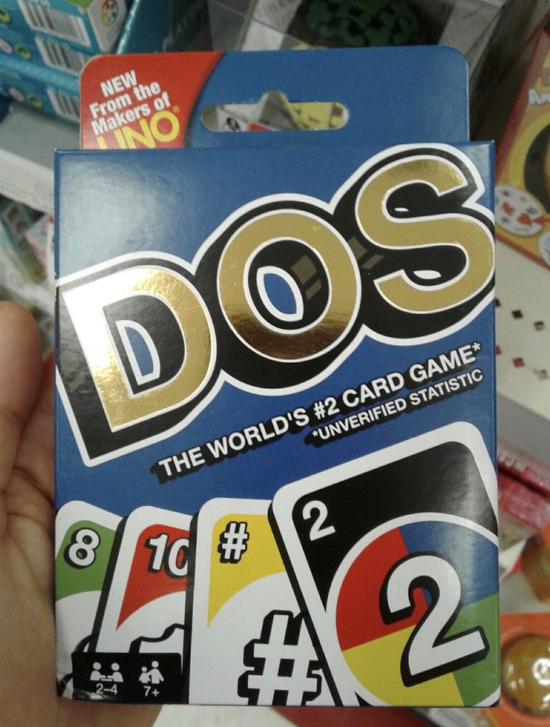 Food - NEW From the Makers of INO A DOS THE WORLD'S #2 CARD GAME* *UNVERIFIED STATISTIC 8 10 # 2 2-4 7+