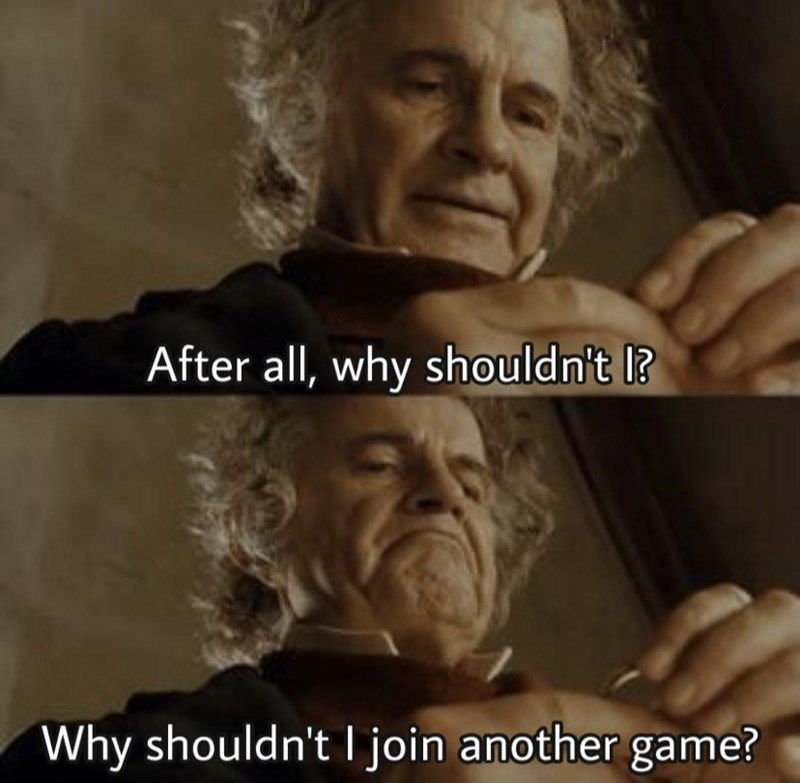 Nose - After all, why shouldn't I? Why shouldn't I join another game?