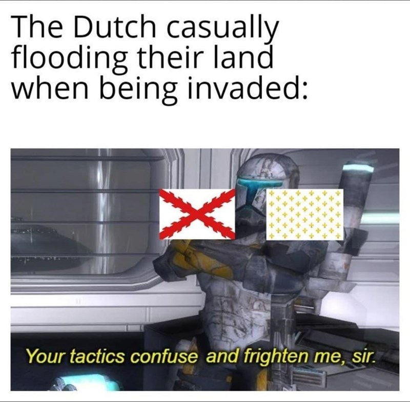 Automotive tail & brake light - The Dutch casually flooding their land when being invaded: Your tactics confuse and frighten me, sir.