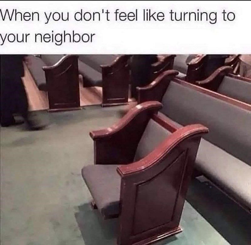 Brown - When you don't feel like turning to your neighbor