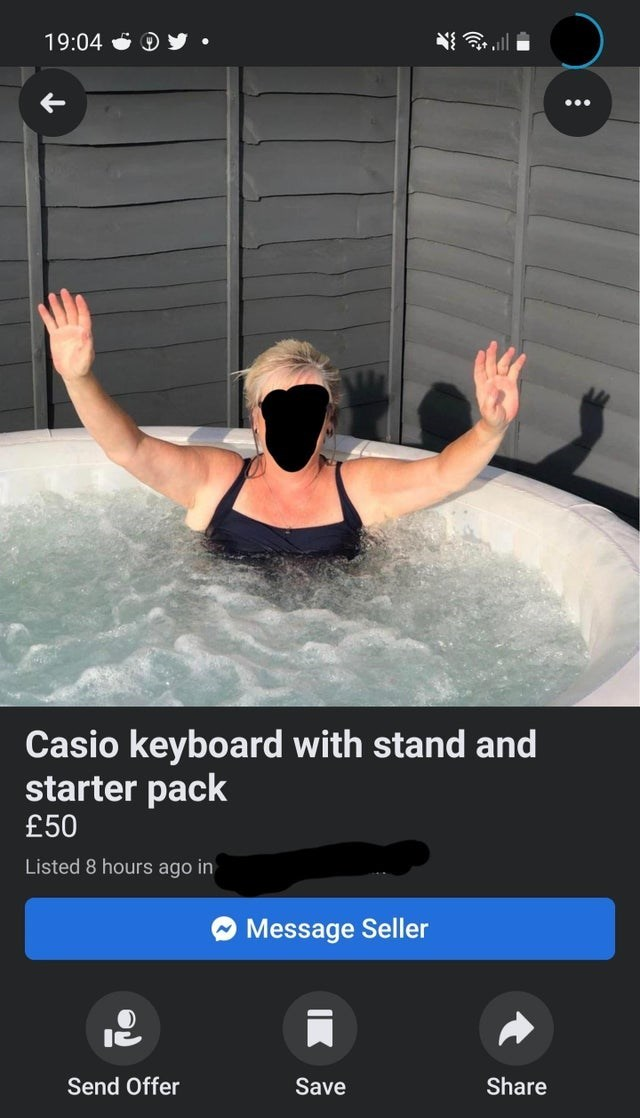 Water - 19:04 Casio keyboard with stand and starter pack £50 Listed 8 hours ago in Message Seller Send Offer Save Share
