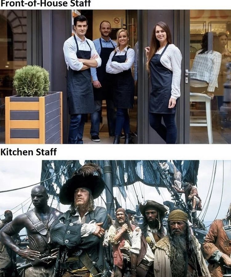 Outerwear - Front-of-House Staff Kitchen Staff