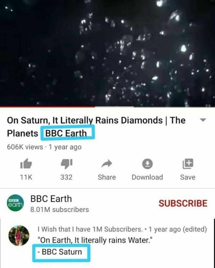 """World - On Saturn, It Literally Rains Diamonds 