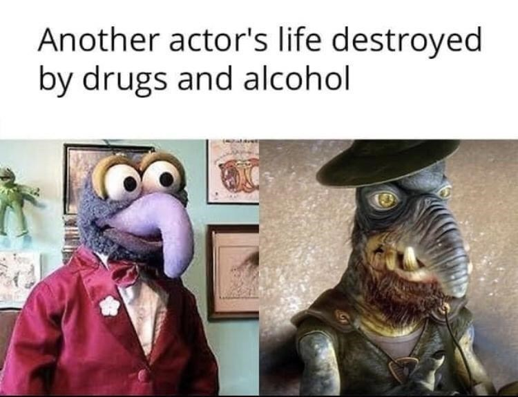 Facial expression - Another actor's life destroyed by drugs and alcohol
