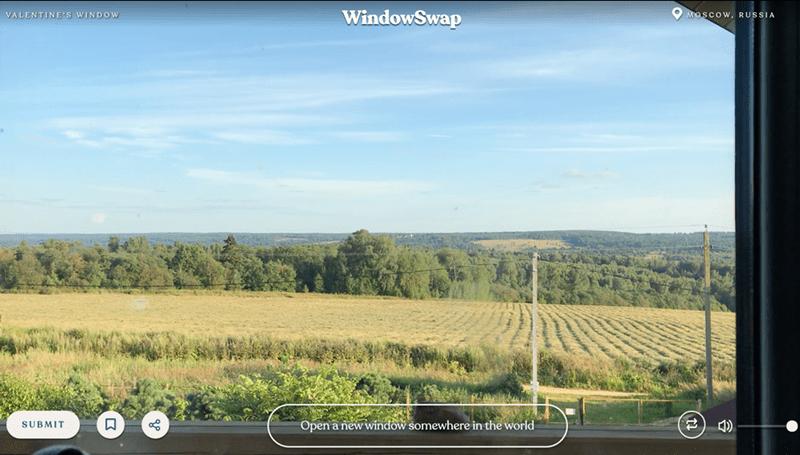 Sky - WindowSwap O MOSCOW, RUSSIA VALENTINE'S WINDOW Open a new window somewhere in the world SUBMIT