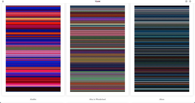 Colorfulness - TCOM Aladdin Alice in Wonderland Aliens