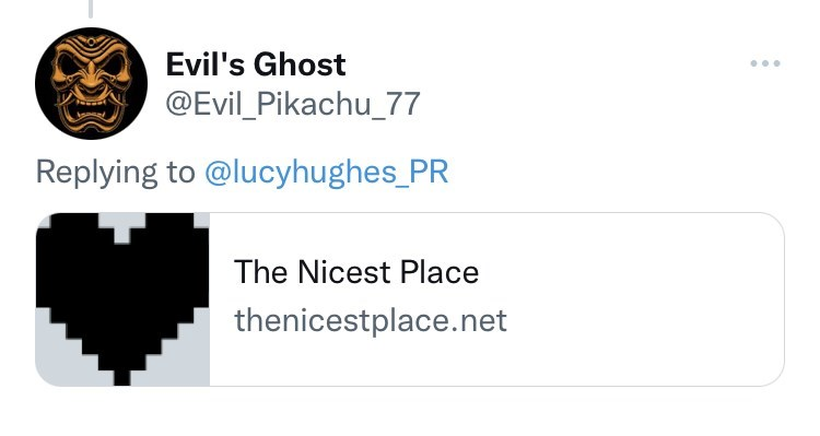 Font - Evil's Ghost ... @Evil_Pikachu_77 Replying to @lucyhughes_PR The Nicest Place thenicestplace.net
