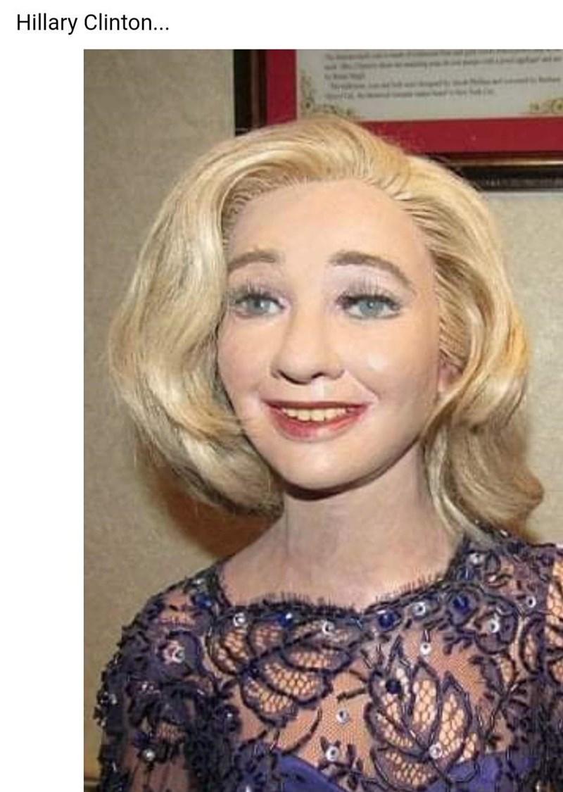 Forehead - Hillary Clinton...