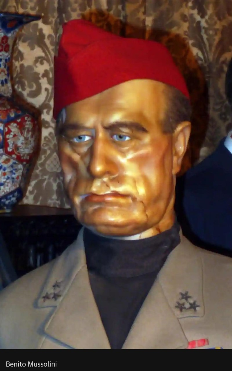 Forehead - Benito Mussolini