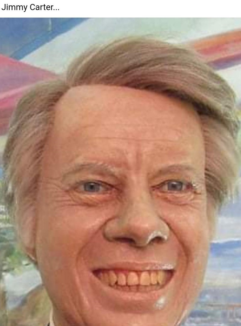 Forehead - Jimmy Carter...