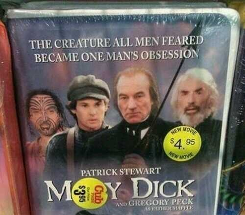Forehead - THE CREATURE ALL MEN FEARED BECAME ONE MAN'S OBSESSION MOVIE NEW $4. 95 EW MOVE PATRICK STEWART MeBY DICK AND GREGORY PECK AS FATHERMAPE